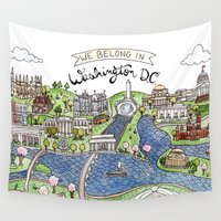 dc Wall Tapestries featuring Washington DC by Brooke Weeber