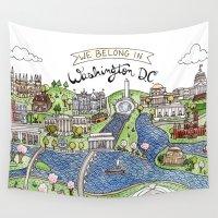 washington Wall Tapestries featuring Washington DC by Brooke Weeber