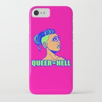 queer iPhone & iPod Cases featuring QUEER AS HELL by Яussia