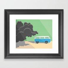 Dharma Van vs Smoke Monster Framed Art Print