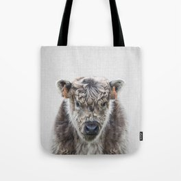 Fluffy Cow - Colorful Tote Bag