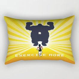 Exercise more. A PSA for stressed creatives. Rectangular Pillow