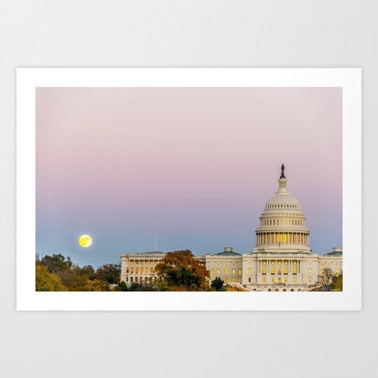 Sunrise Moon Art Print