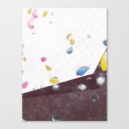 Geometric abstract free climbing bouldering holds pink yellow Canvas Print