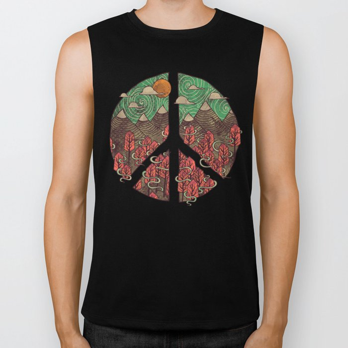 Peaceful Landscape Biker Tank