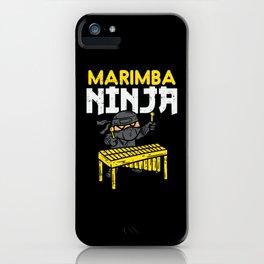 Marimba Ninja For Marimba Mallets iPhone Case