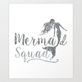 Mermaid Squad2 2 Art Print