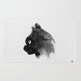 Cat Portrait (Ink Painting) Rug