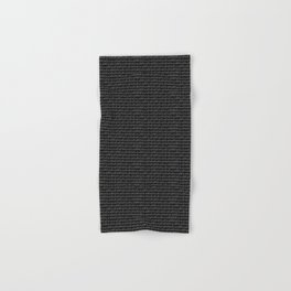 Gray-on-black Binary Code Pattern Hand & Bath Towel
