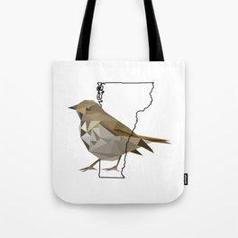 Vermont – Hermit Thrush Tote Bag