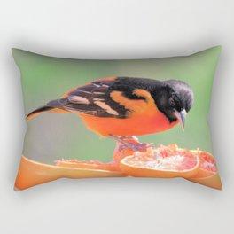 Orange Juice for Breakfast (Baltimore Oriole) Rectangular Pillow