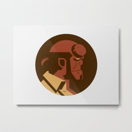 Headgear: Hell boy Metal Print