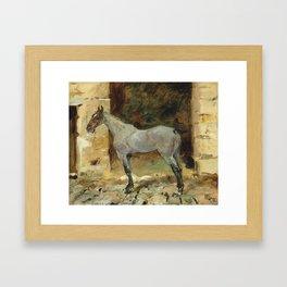 """Henri de Toulouse-Lautrec """"Cheval attaché"""" Framed Art Print"""