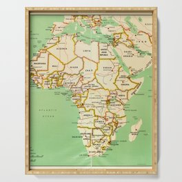 Map of Africa (1966) Serving Tray