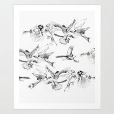 BIRD GEHRL Art Print