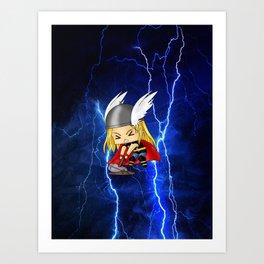 Chibi Thor Art Print