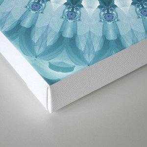 Turquoise and Navy Mandala Canvas Print