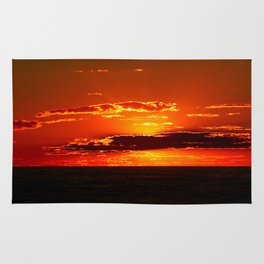 Sunset with Silver lined Clouds Rug