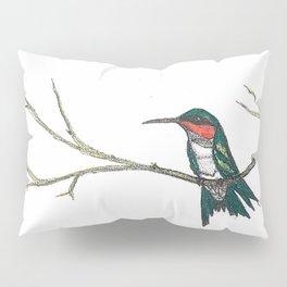 Hummingbird on a branch Pillow Sham