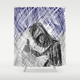 HitchHiker at Night Shower Curtain