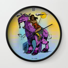 Javelin Rider of the Highland Plains Wall Clock