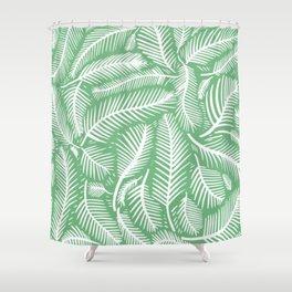 green leaf pattern Shower Curtain