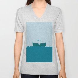 Whale Tail Unisex V-Neck