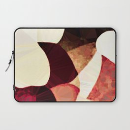 Baroque Burgundy Copper Ivory Maximum Abstract Art Laptop Sleeve