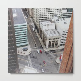 Michigan Ave & Griswold - Detroit, MI Metal Print