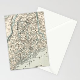 Vintage Map of Maine (1893) Stationery Cards