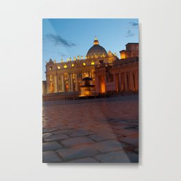 The Vatican at Twilight Metal Print