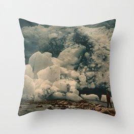 """""""Kjenndalsbreen Glacier Norway"""" Throw Pillow"""