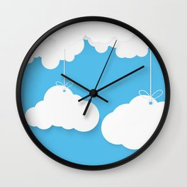 A Cloud Gathering - papercut series - Wall Clock