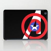 avenger iPad Cases featuring Captain Avenger by foreverwars