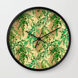 Tuscan Garden Wall Wall Clock