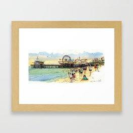 Santa Monica Seaside Framed Art Print