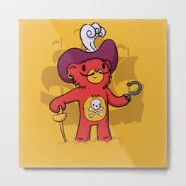 Captain Bear Hook Metal Print