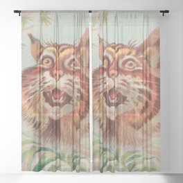 American Wild Cat by A&G Sheer Curtain