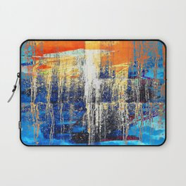 Golden Dawn, Abstract Landscape Art Laptop Sleeve