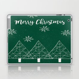 Merry Christmas Green Laptop & iPad Skin