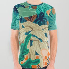 Backyard #illustration #painting All Over Graphic Tee