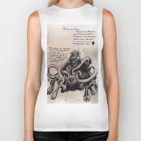 lovecraft Biker Tanks featuring Lovecraft Series:  Dunwich Horror by Furry Turtle Creations