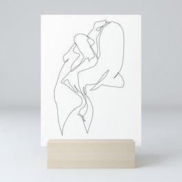 One line nude - e 5 Mini Art Print