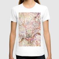 cincinnati T-shirts featuring Cincinnati by MapMapMaps.Watercolors