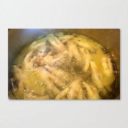 Boiling Chicken Feet Canvas Print