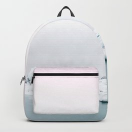 Beautiful glacier lagoon winter Backpack