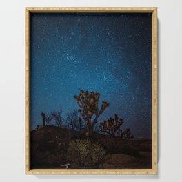 Midnight Stars at Joshua Tree Serving Tray
