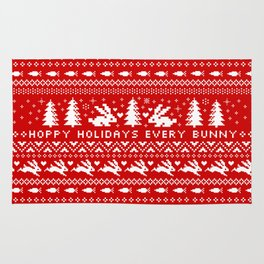 Bunnies Holiday Patterm Rug
