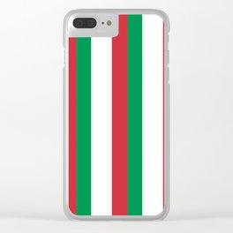 Flag of Italy 3-Italy,Italia,Italian,Latine,Roma,venezia,venice,mediterreanean,Genoa,firenze Clear iPhone Case