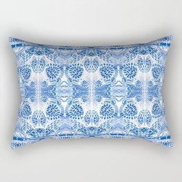 Blue on white dubble exposed Rectangular Pillow